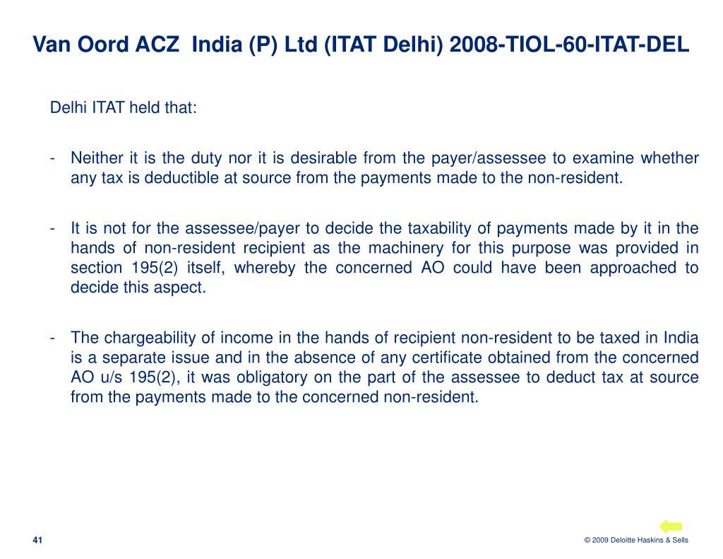 Van Oord ACZ  India (P) Ltd (ITAT Delhi) 2008-TIOL-60-ITAT-DEL