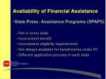 availability of financial assistance8
