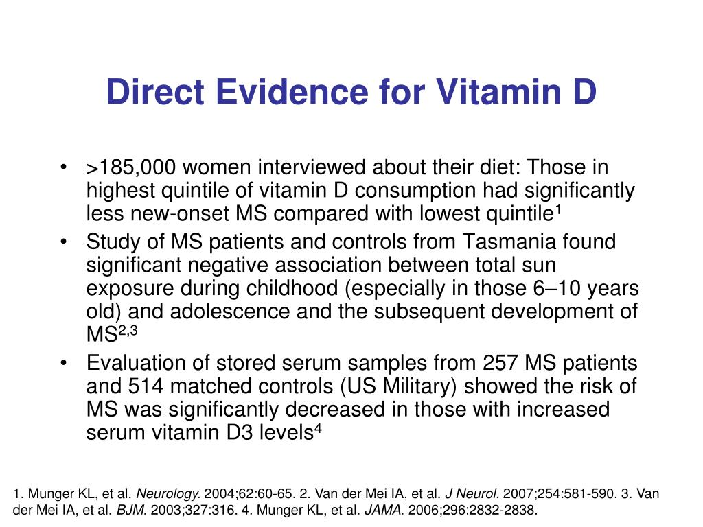 Direct Evidence for Vitamin D