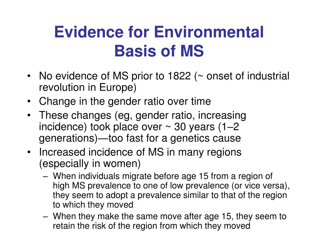 Evidence for Environmental