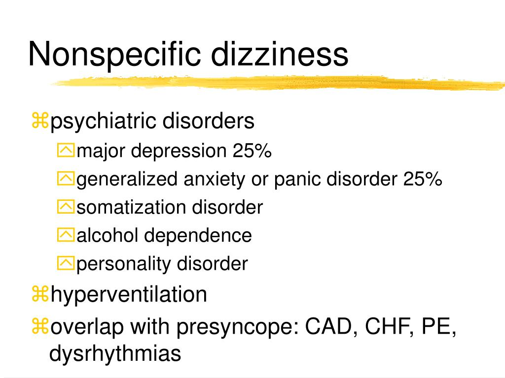 Nonspecific dizziness