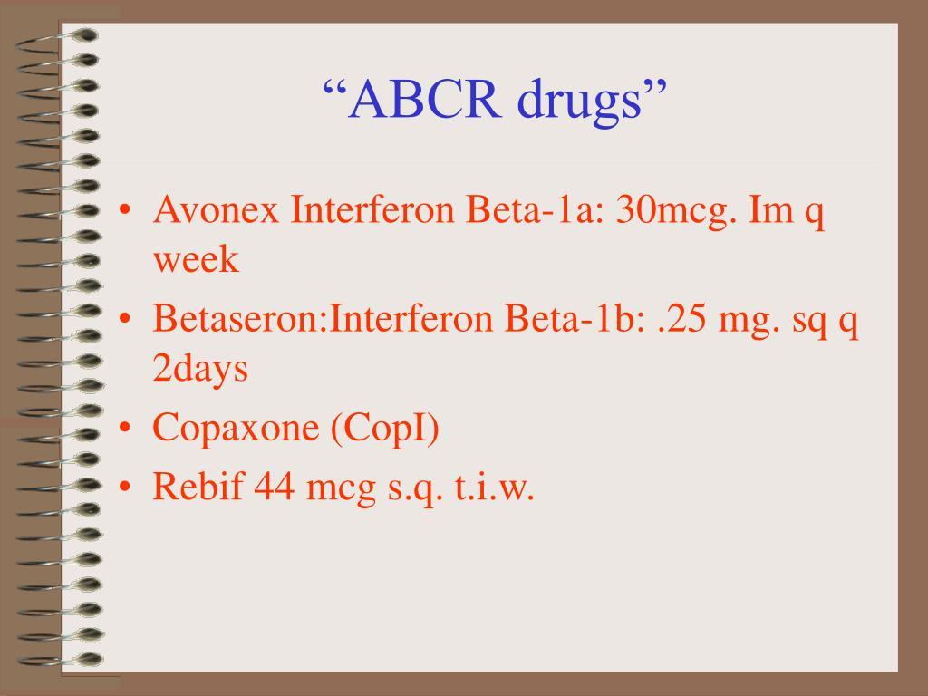 """ABCR drugs"""