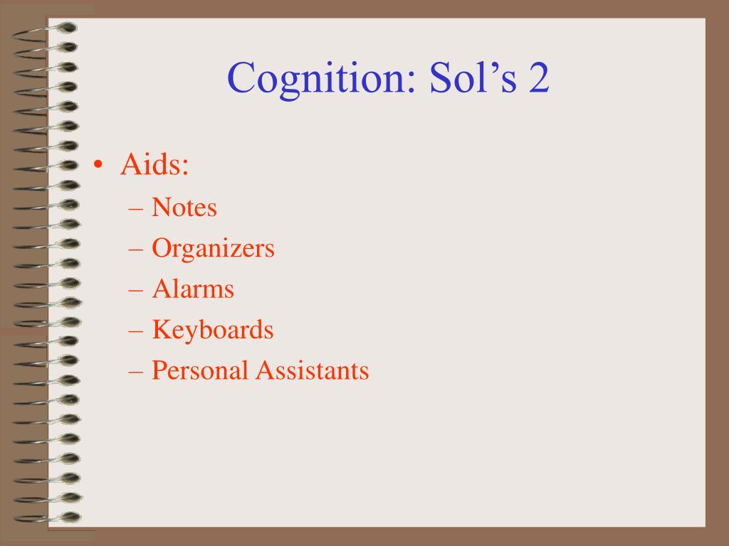 Cognition: Sol's 2