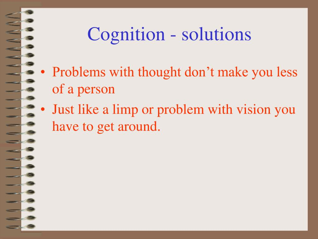 Cognition - solutions