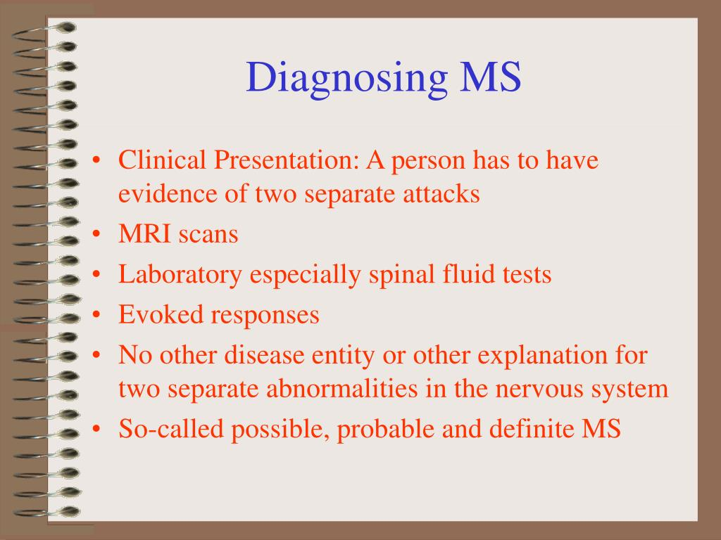 Diagnosing MS