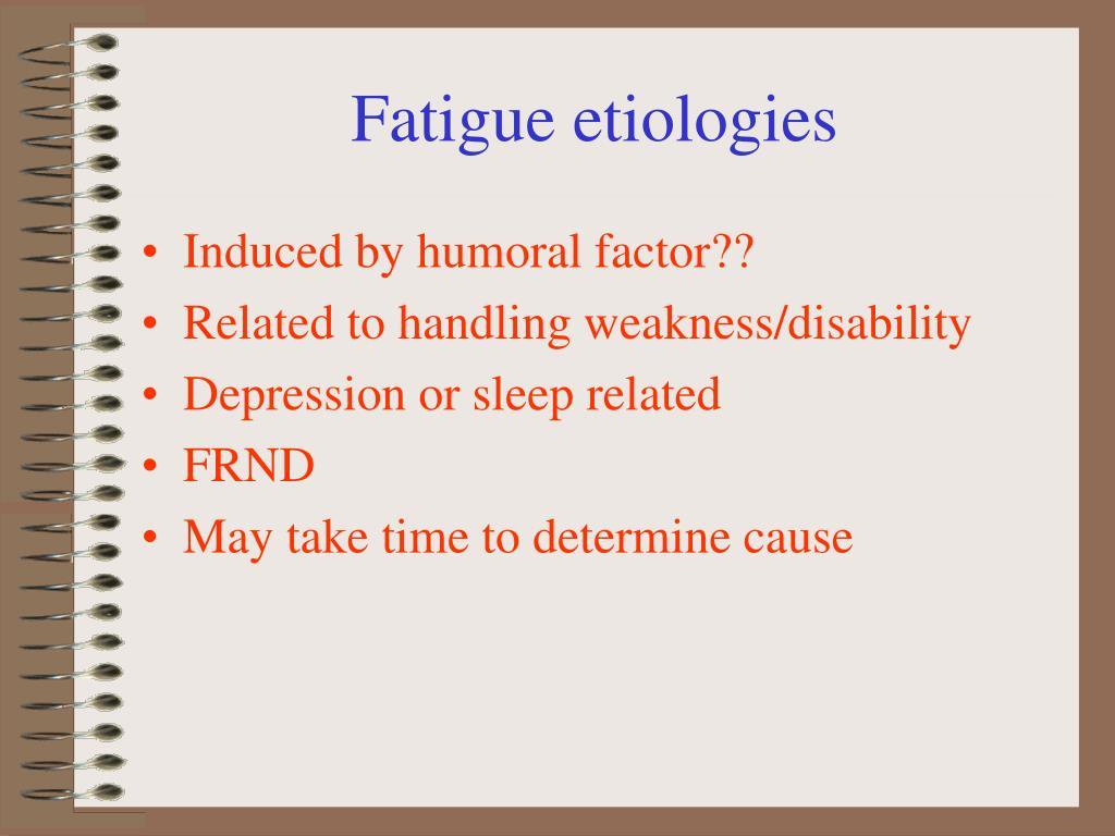 Fatigue etiologies