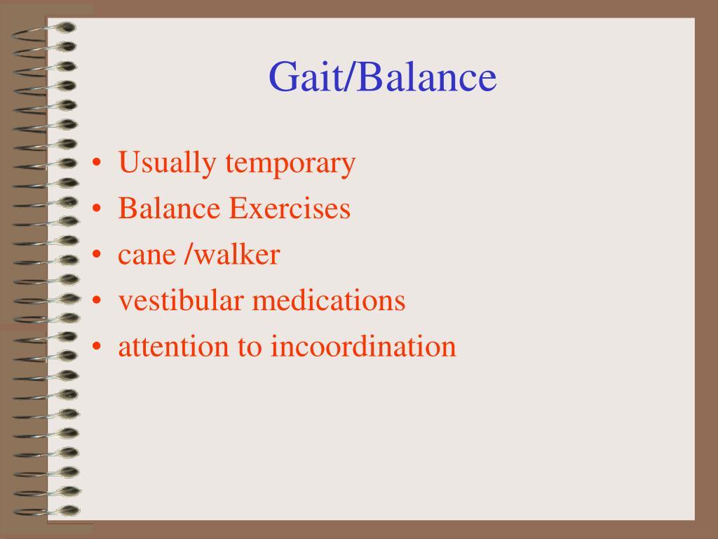 Gait/Balance