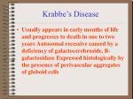 krabbe s disease