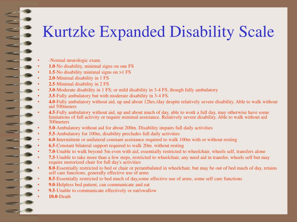 Kurtzke Expanded Disability Scale