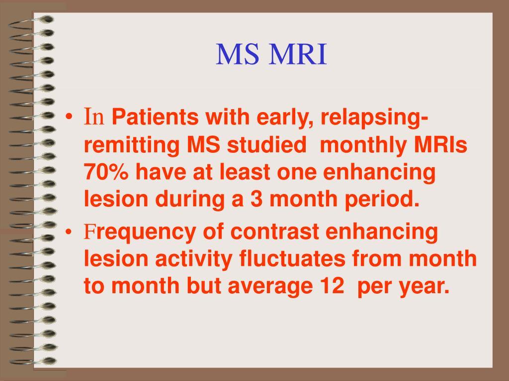 MS MRI