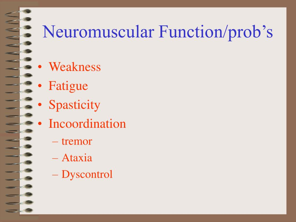 Neuromuscular Function/prob's