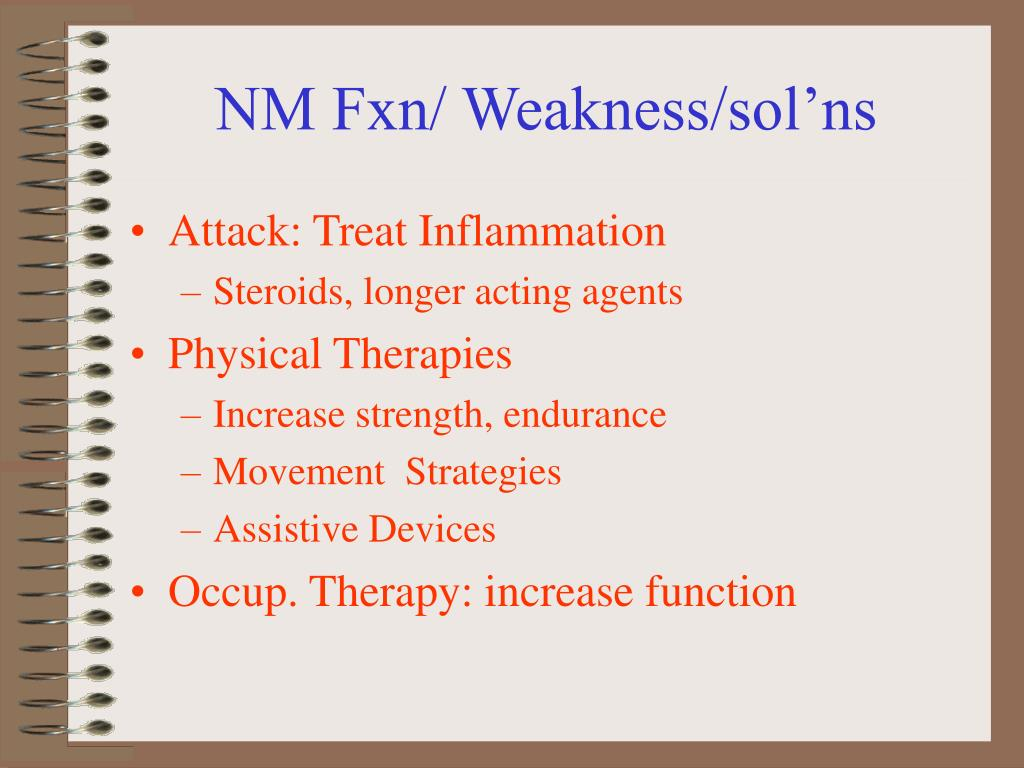 NM Fxn/ Weakness/sol'ns