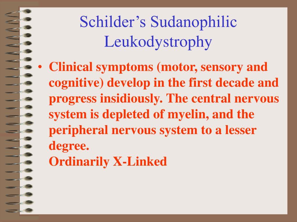 Schilder's Sudanophilic Leukodystrophy