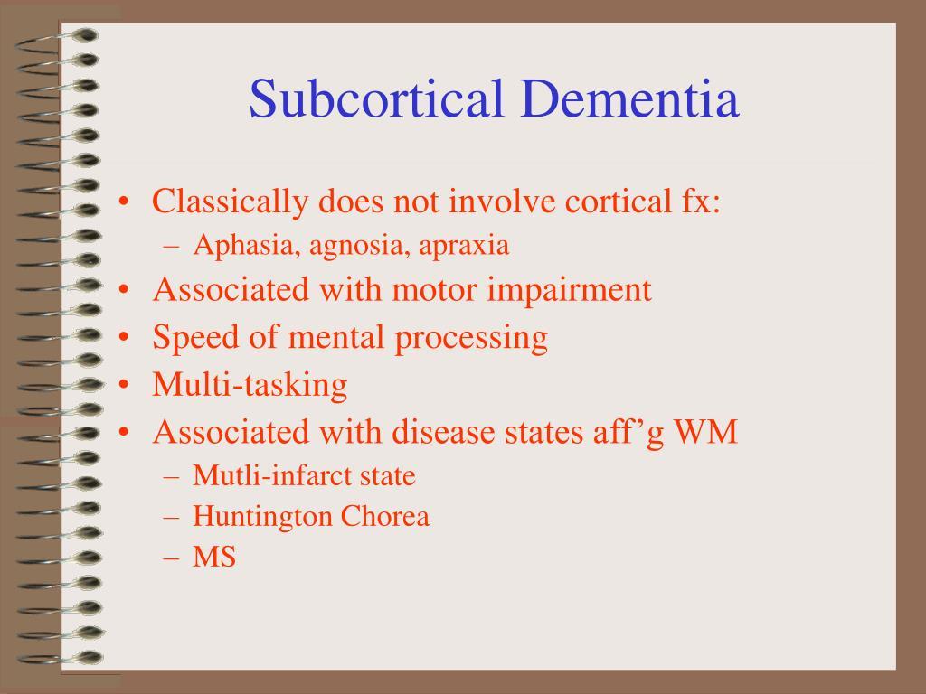 Subcortical Dementia
