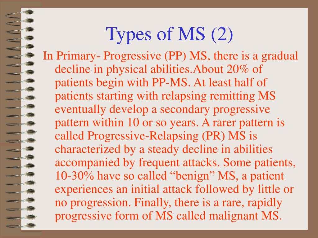 Types of MS (2)