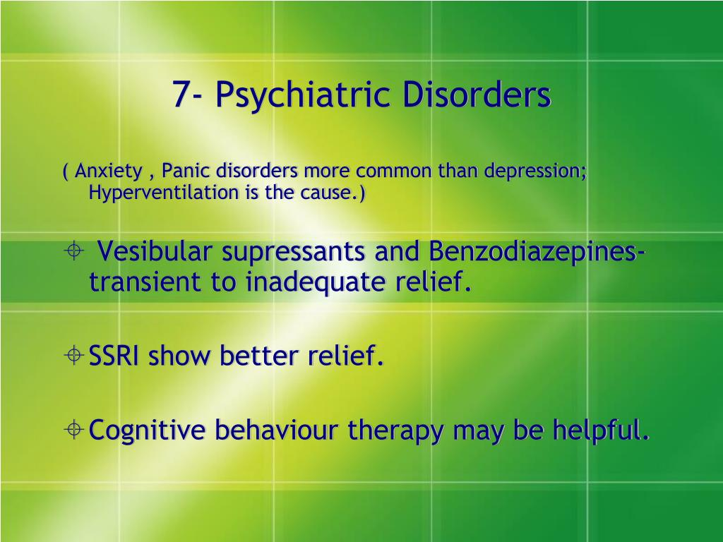 7- Psychiatric Disorders