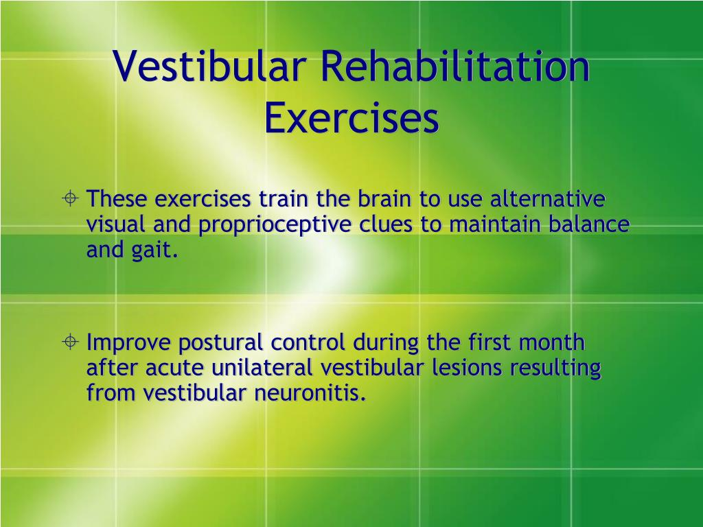 Vestibular Rehabilitation Exercises
