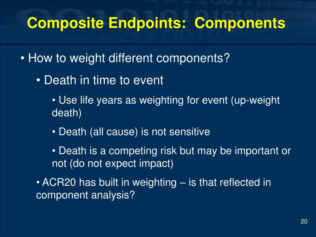 Composite Endpoints:  Components