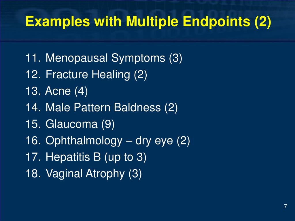 Examples with Multiple Endpoints (2)