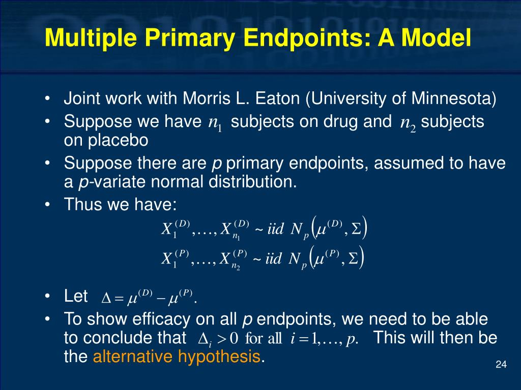 Multiple Primary Endpoints: A Model