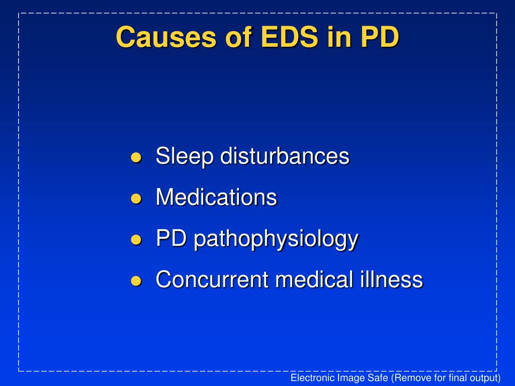 Causes of EDS in PD
