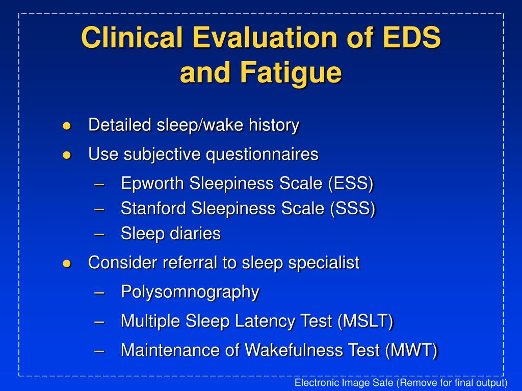 Clinical Evaluation of EDS