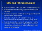 eds and pd conclusions
