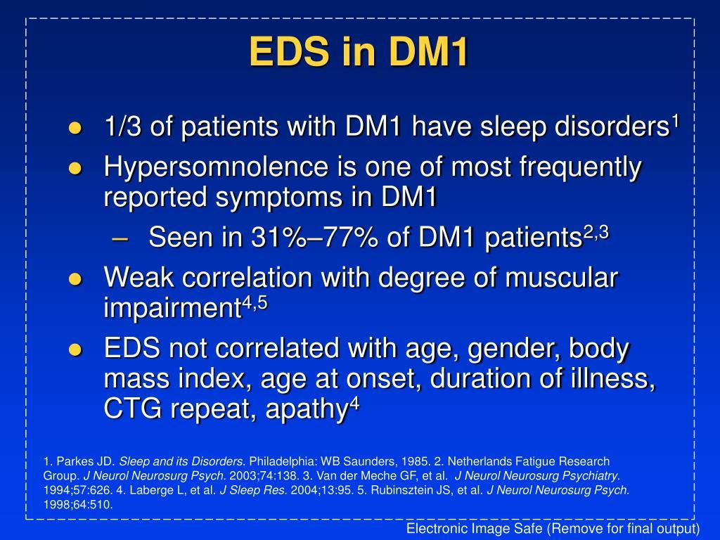 EDS in DM1