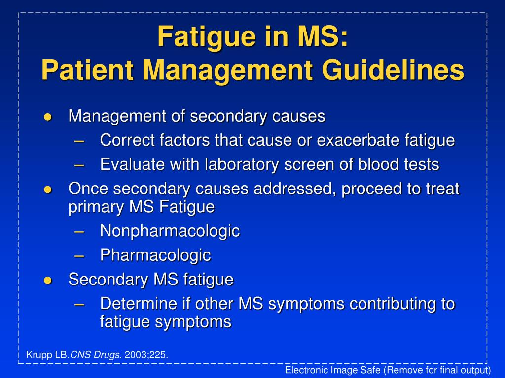 Fatigue in MS: