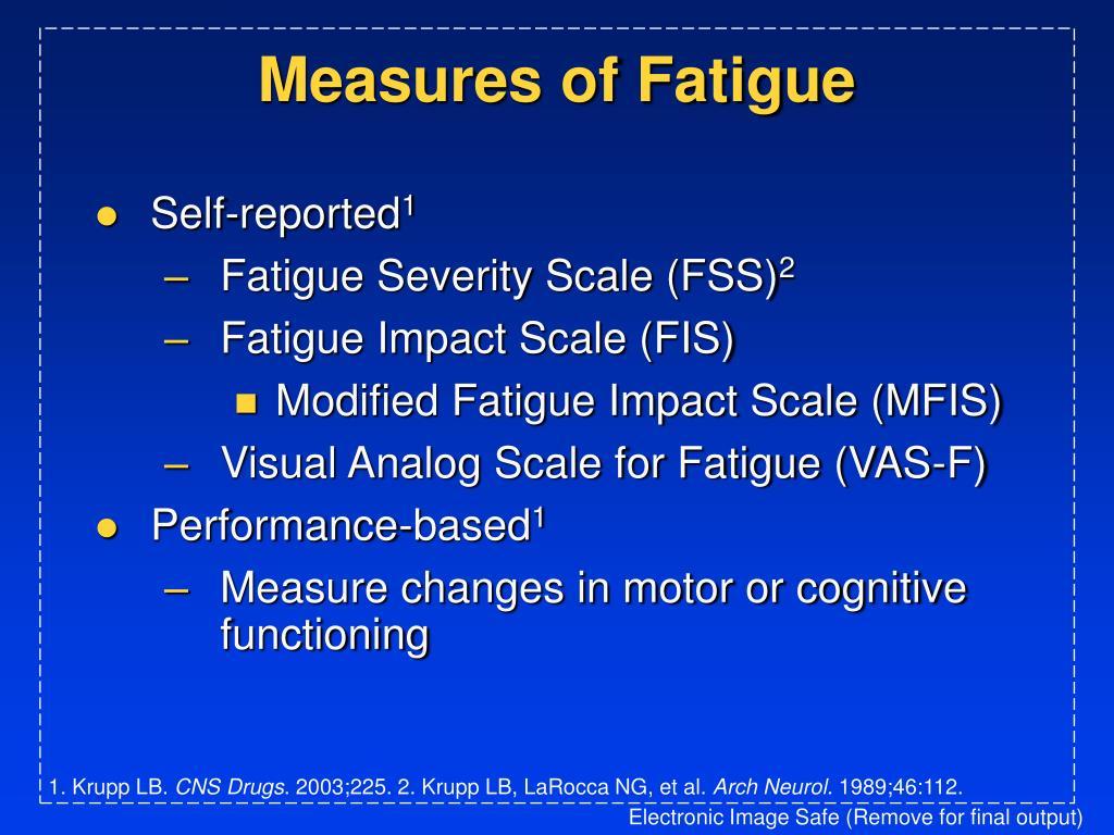 Measures of Fatigue