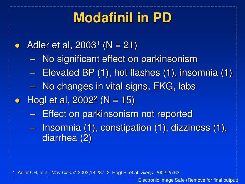 Modafinil in PD