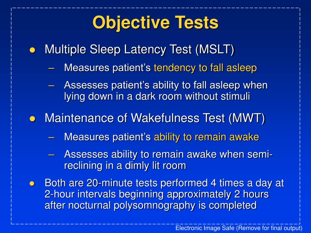 Objective Tests