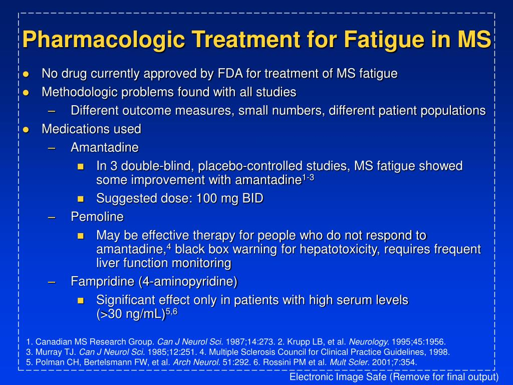 Pharmacologic Treatment for Fatigue in MS