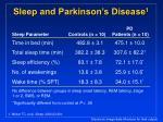 sleep and parkinson s disease 1