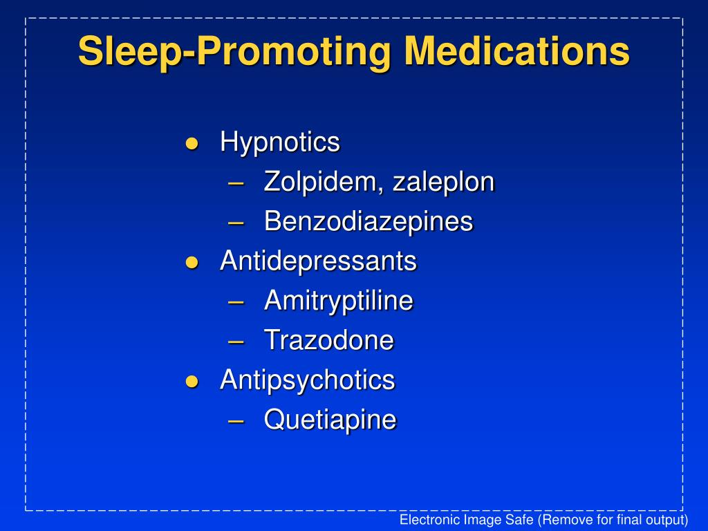 Sleep-Promoting Medications