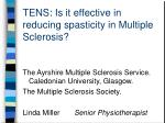 tens is it effective in reducing spasticity in multiple sclerosis
