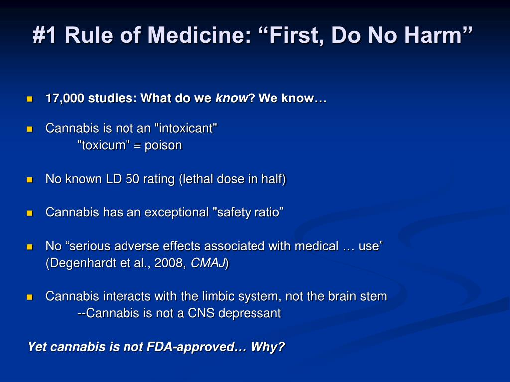 """#1 Rule of Medicine: """"First, Do No Harm"""""""