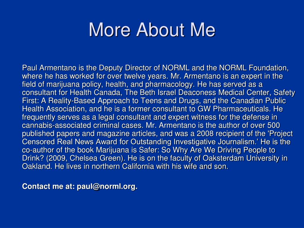 More About Me