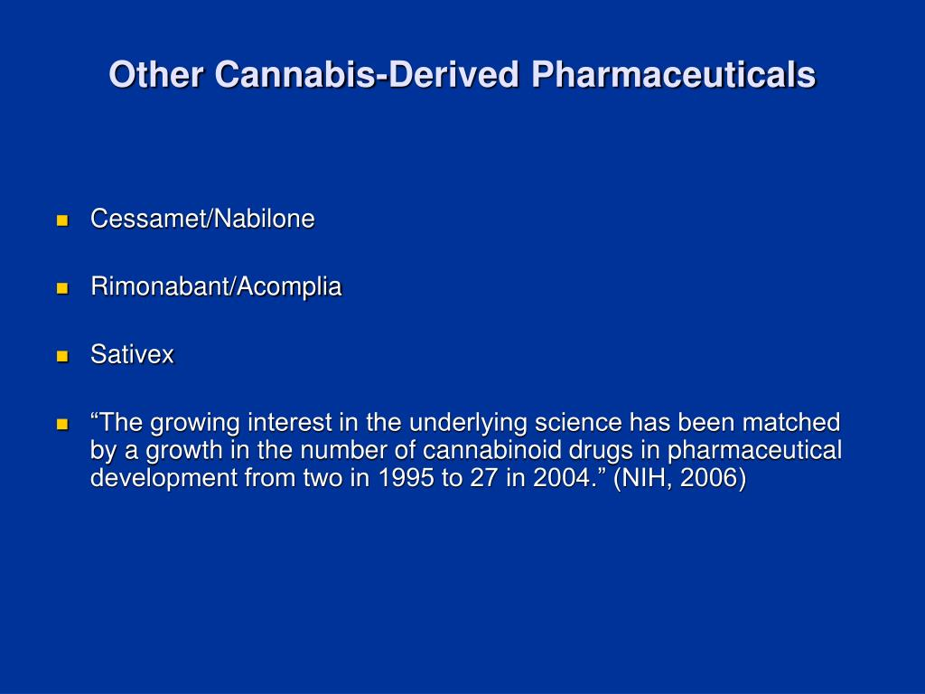 Other Cannabis-Derived Pharmaceuticals