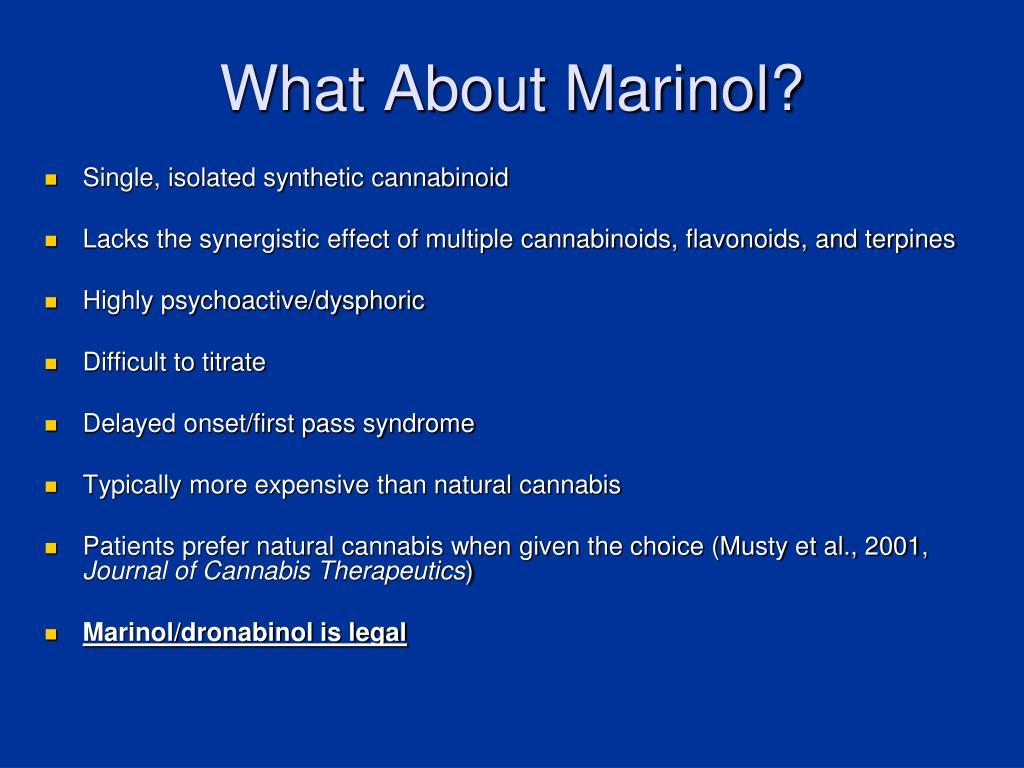 What About Marinol?