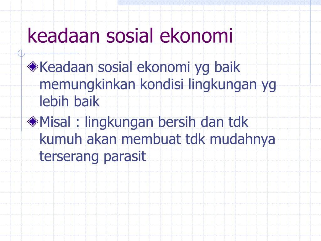 keadaan sosial ekonomi