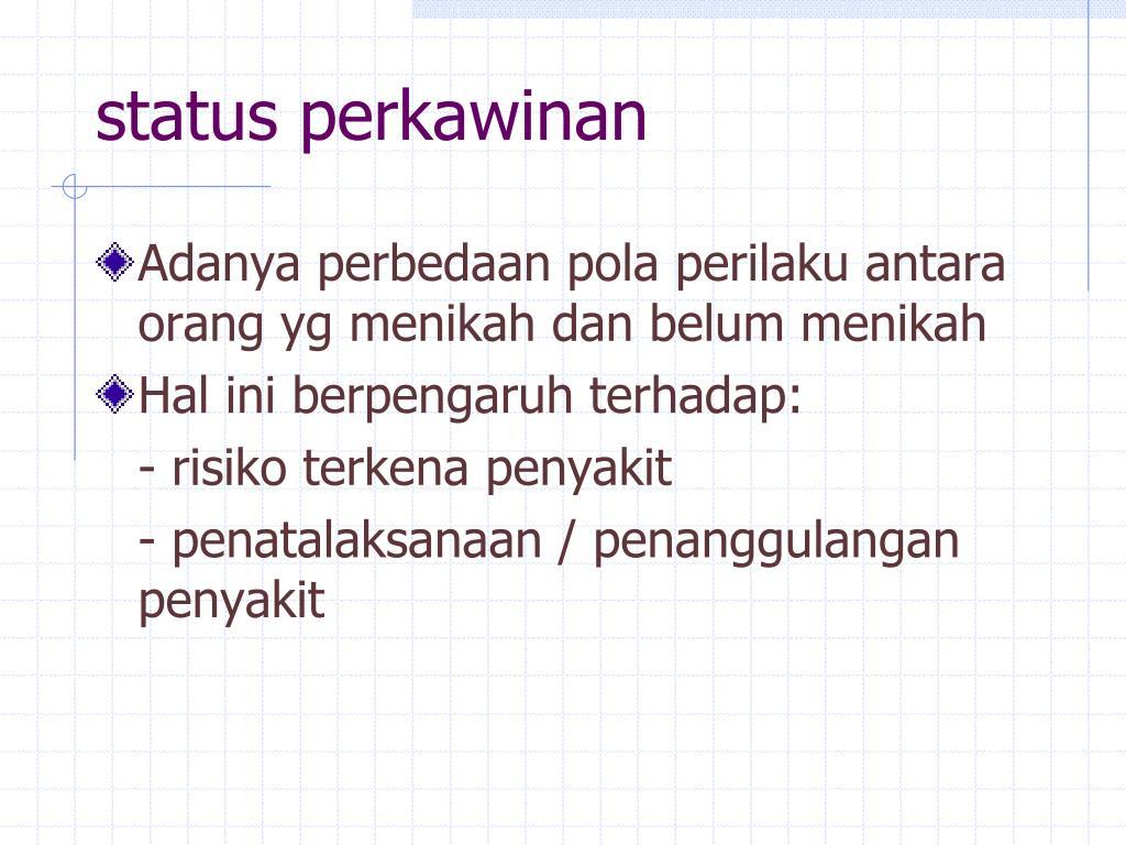 status perkawinan