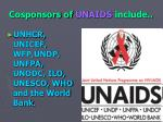 cosponsors of unaids include