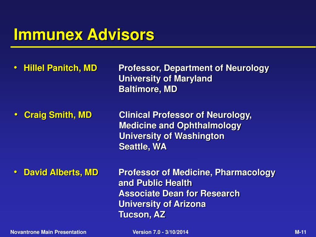 Immunex Advisors