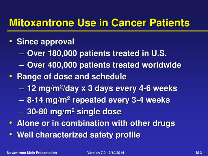 Mitoxantrone use in cancer patients l.jpg