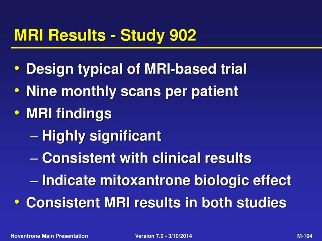 MRI Results - Study 902