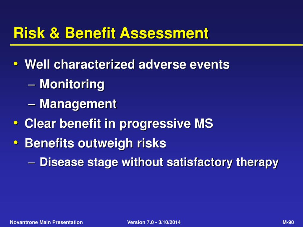 Risk & Benefit Assessment