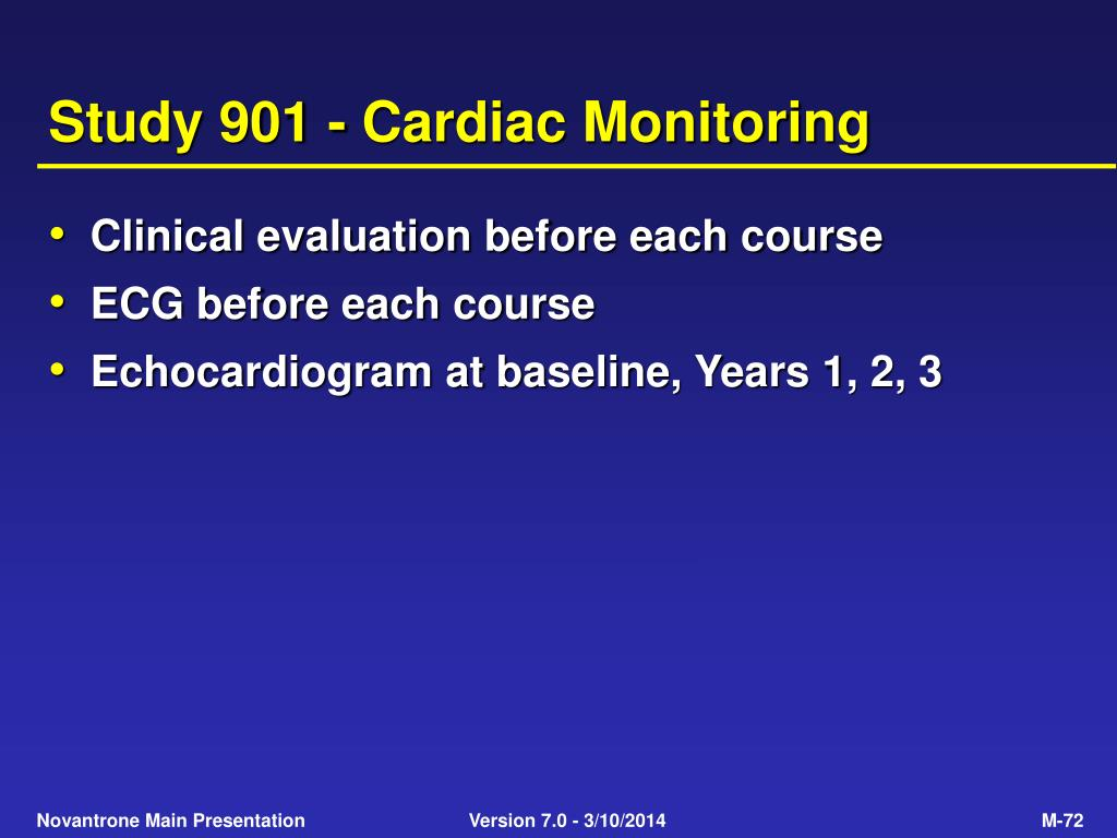 Study 901 - Cardiac Monitoring