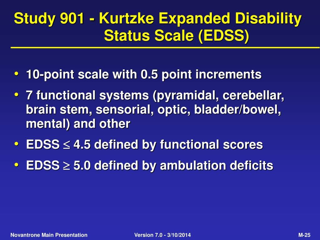 Study 901 - Kurtzke Expanded Disability Status Scale (EDSS)