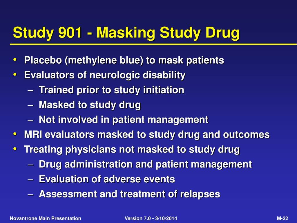 Study 901 - Masking Study Drug